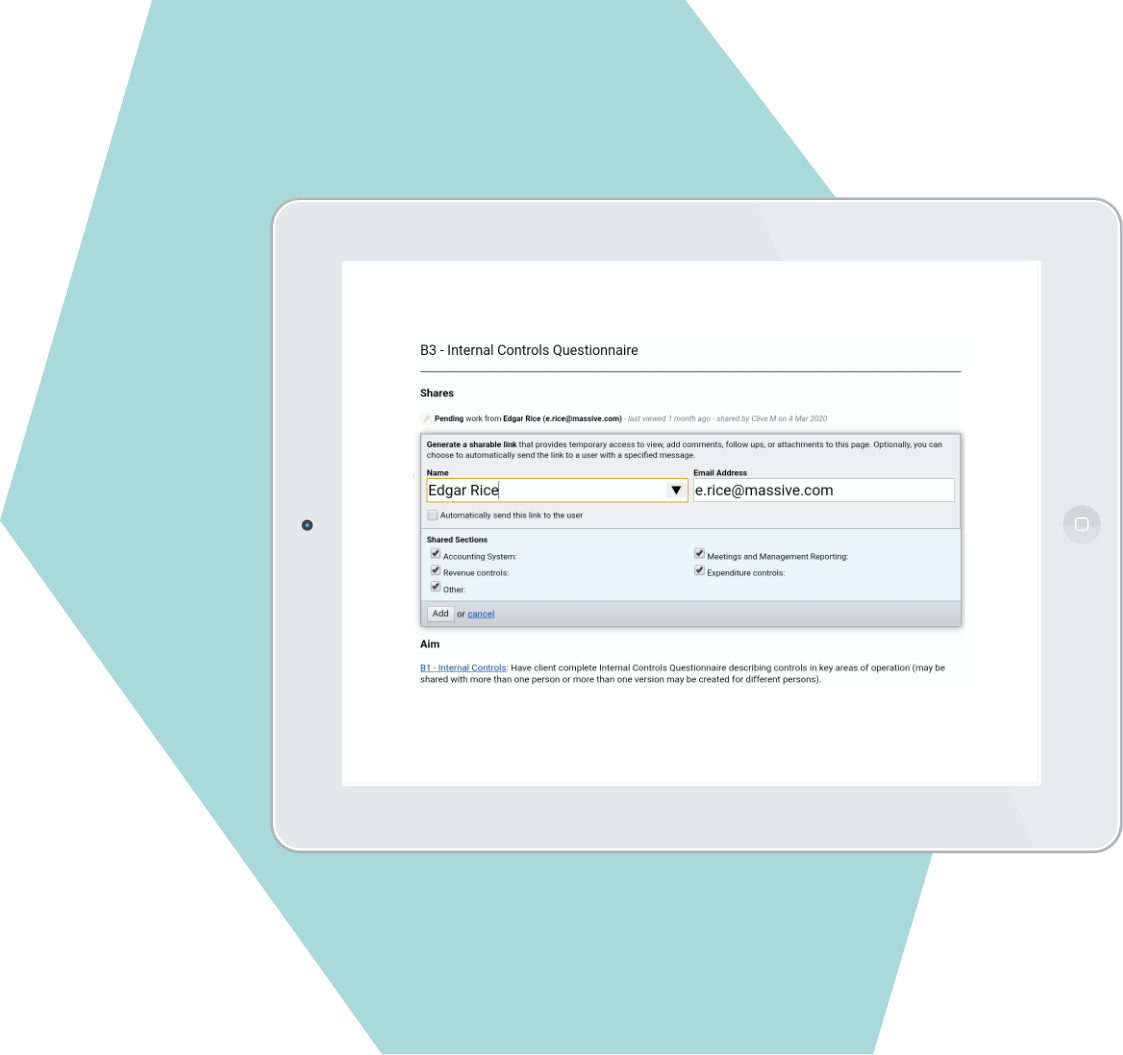 Screenshot for Real-time access for instant client interaction and collaboration
