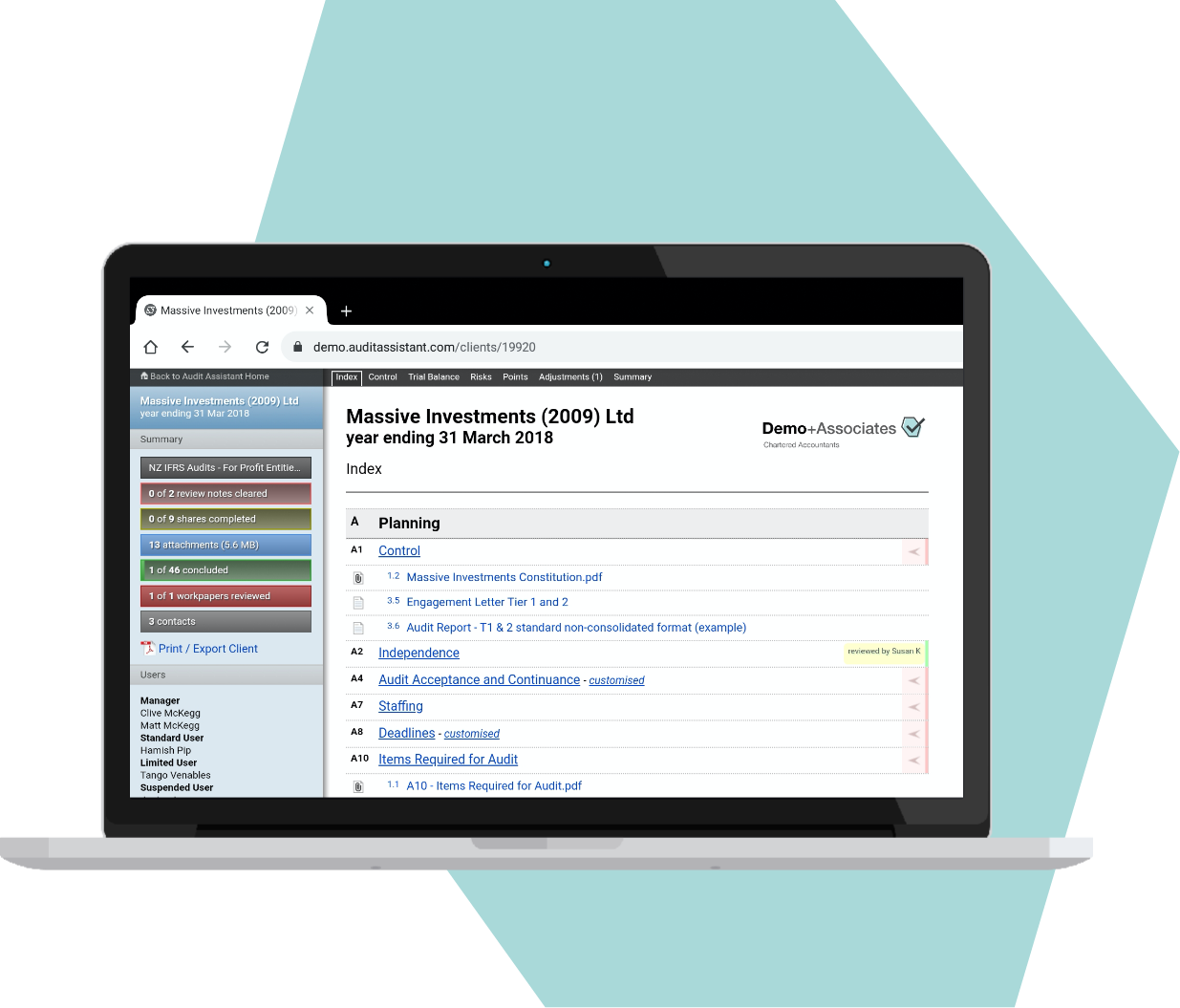 Screenshot for Up to date with the latest assurance, compliance and reporting standards